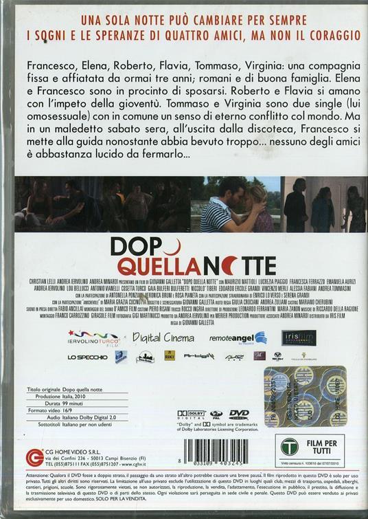 Dopo quella notte di Giovanni Galletta - DVD - 2
