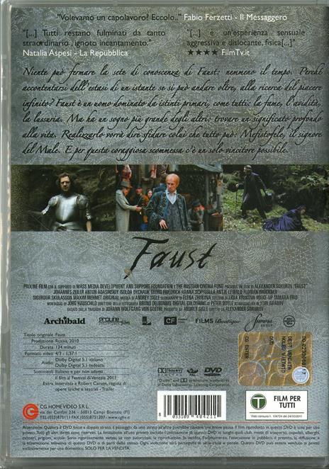 Faust di Aleksandr Sokurov - DVD - 2
