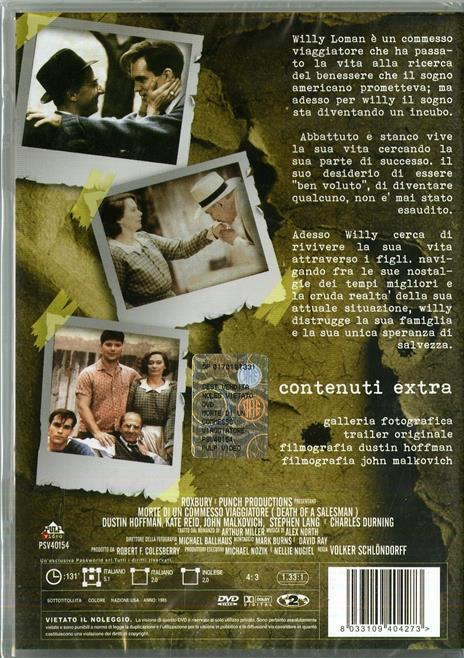 Morte di un commesso viaggiatore di Volker Schlöndorff - DVD - 2