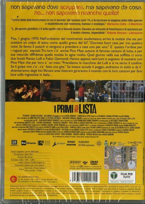 I primi della lista di Roan Johnson - DVD - 2