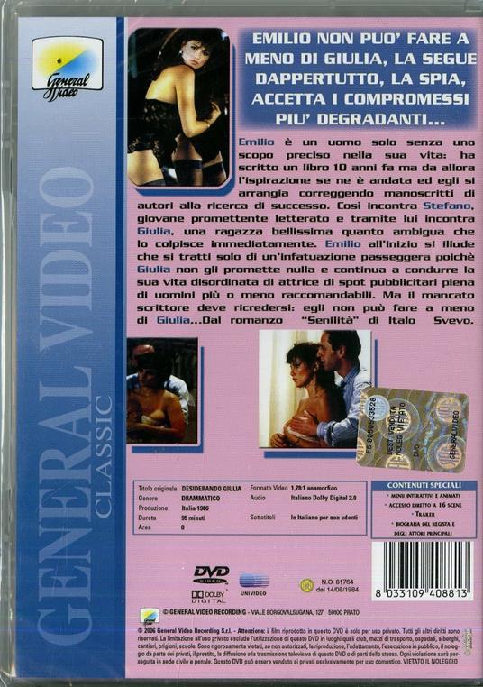 Desiderando Giulia di Andrea Barzini - DVD - 2