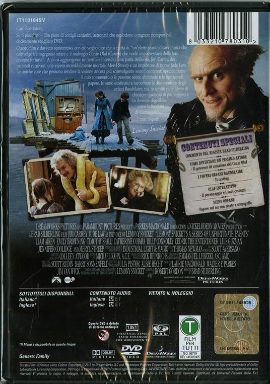 Lemony Snicket. Una serie di sfortunati eventi di Brad Silberling - DVD - 2