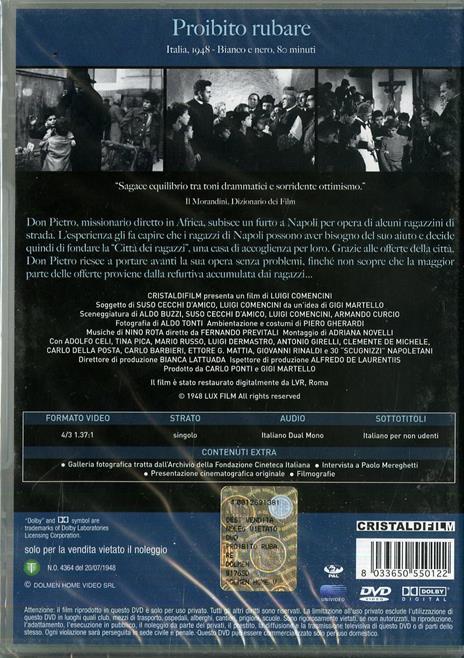 Proibito rubare di Luigi Comencini - DVD - 2