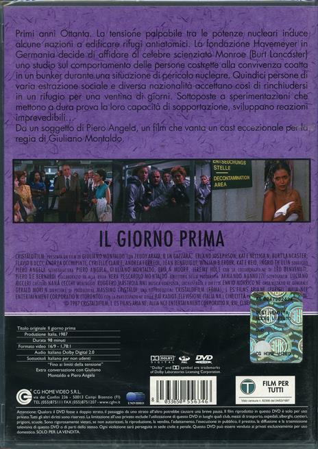 Il giorno prima di Giuliano Montaldo - DVD - 2