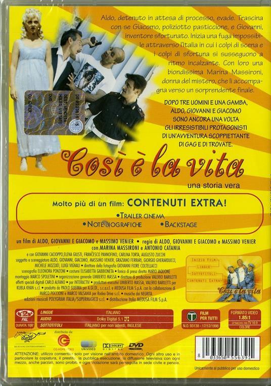 Così è la vita di Aldo Baglio,Giovanni Storti,Giacomo Poretti - DVD - 2