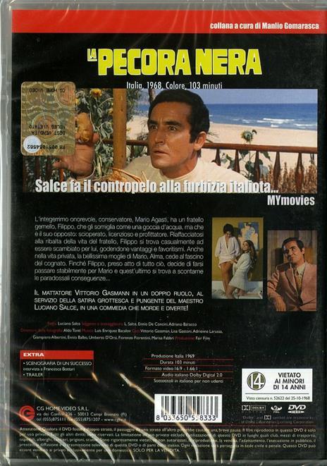 La pecora nera di Luciano Salce - DVD - 2