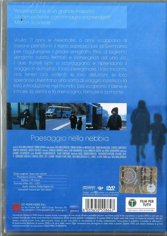 Paesaggio nella nebbia di Thodoros Anghelopulos - DVD - 2