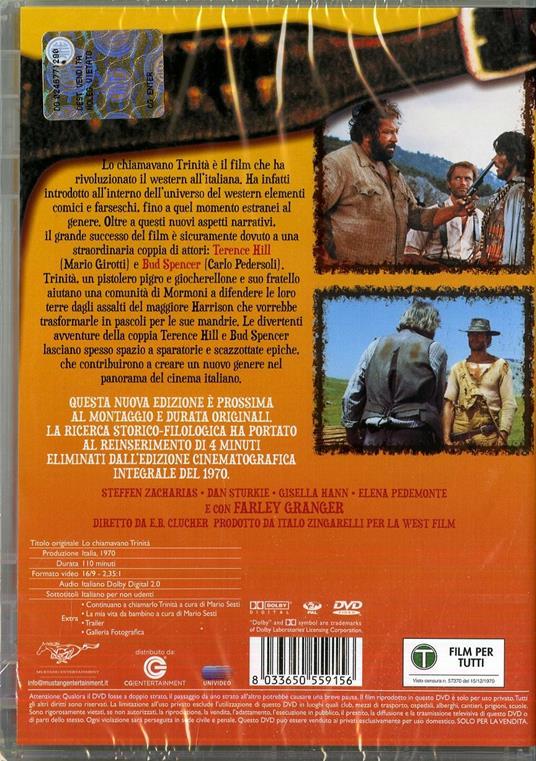 Lo chiamavano Trinità di Enzo Barboni - DVD - 3