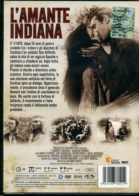 L' amante indiana di Delmer Daves - DVD - 2