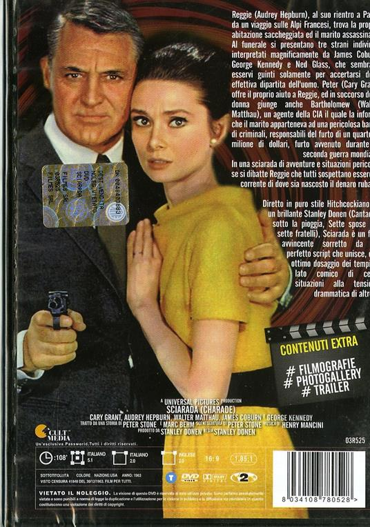 Sciarada di Stanley Donen - DVD - 2