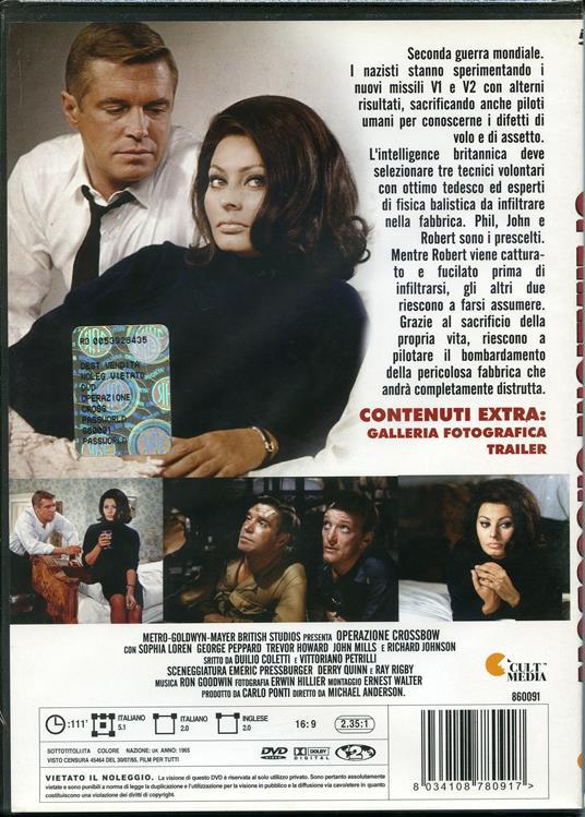 Operazione Crossbow di Michael Anderson - DVD - 2