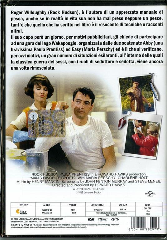 Lo sport preferito dall'uomo (DVD) di Howard Hawks - DVD - 2