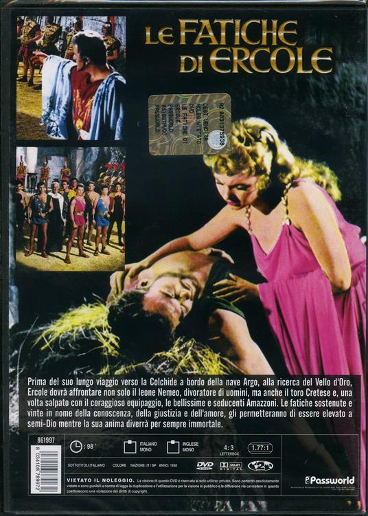 Le fatiche di Ercole di Pietro Francisci - DVD - 2