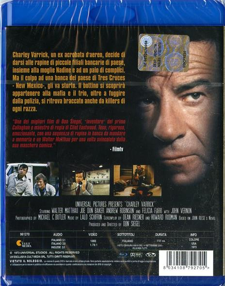 Chi ucciderà Charley Warrick? di Don Siegel - Blu-ray - 2