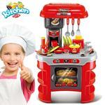 Cucina Per Bambini Piccolo Chef 33 Pz Con Stoviglie Luci E Suoni Altezza 70Cm