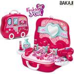 Valigetta Centro Bellezza Fashion Per Bambine Giocattolo Con Accessori Portatile