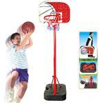 Basket Canestro Valigetta A Piantana Per Bambini Altezza Regolabile Fino 166Cm