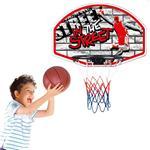 Basket Canestro Per Bambini A Parete Per Esterno Con Palla E Gonfiatore 66X44Cm