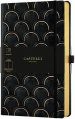 Taccuino Notebook Castelli Gold, Art Deco Medium A Pagine bianche - 13x21 cm