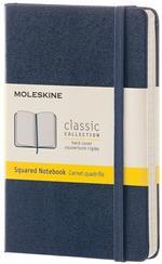 Taccuino Moleskine pocket a quadretti copertina rigida blu. Sapphire Blue