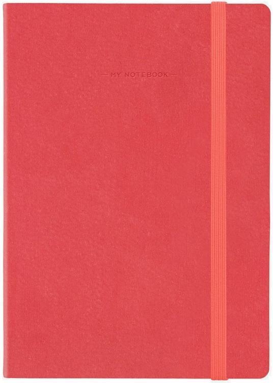 Taccuino Legami My Notebook large a pagine bianche Rosso. Neon Coral