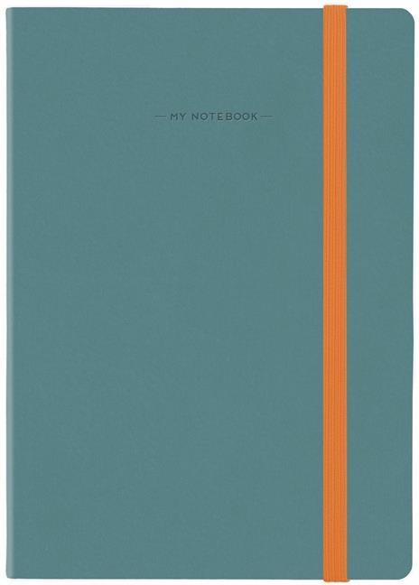 Taccuino Legami My Notebook large a pagine bianche Blu-Grigio. Blue-Grey