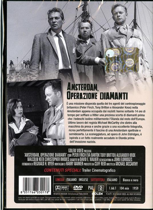 Amsterdam, operazione diamanti di Michael McCarthy - DVD - 2