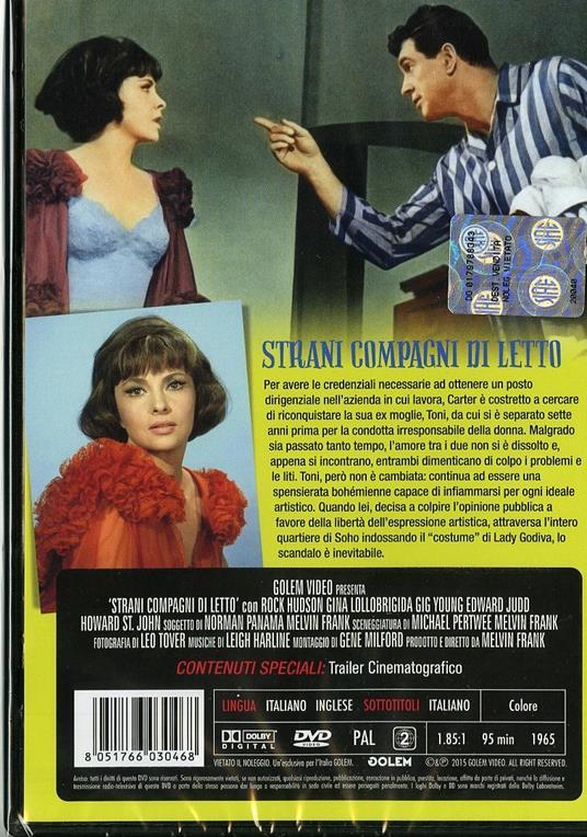 Strani compagni di letto (DVD) di Melvin Frank - DVD - 2