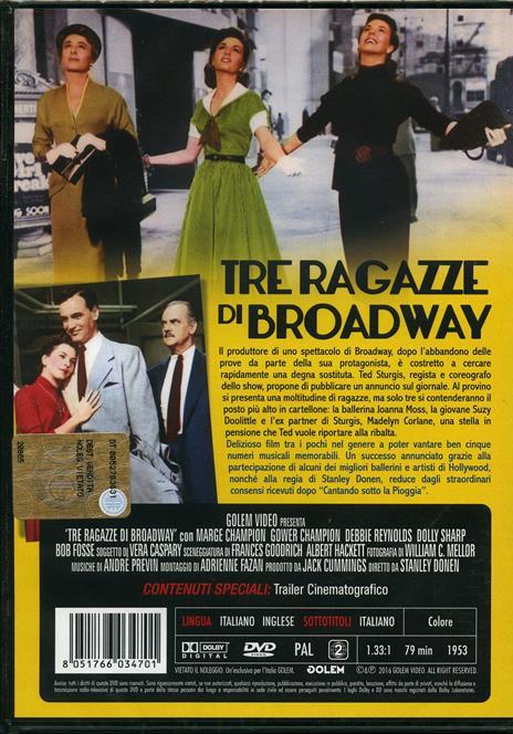 Tre ragazze di Broadway di Stanley Donen - DVD - 2