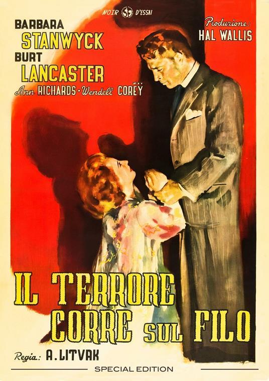 Il terrore corre sul filo. Restaurato in 4K (DVD) di Anatole Litvak - DVD