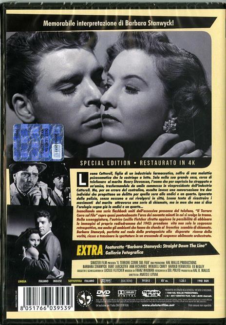 Il terrore corre sul filo. Restaurato in 4K (DVD) di Anatole Litvak - DVD - 2