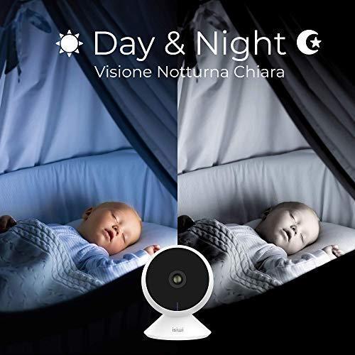 Ring Telecamera IP WiFi interno Isiwi per sorveglianza domestica avanzata, Risoluzione HD 1080P, Rilevazione di movimenti e suoni anomali, Audio bidirezionale, Baby Monitor con Visione Notturna - 4