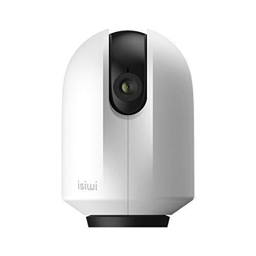 Round Telecamera IP WiFi interno Isiwi per sorveglianza domestica,HD 1080P, Visualizzazione panoramica, Rilevazione di movimenti e suoni anomali, Audio bidirezionale, Baby Monitor con Visione Notturna