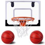 Canestro Basket Palla Canestro da Porta Giocattolo Bambini con 2 Palloni