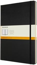 Taccuino Moleskine A4 a righe copertina rigida nero. Black