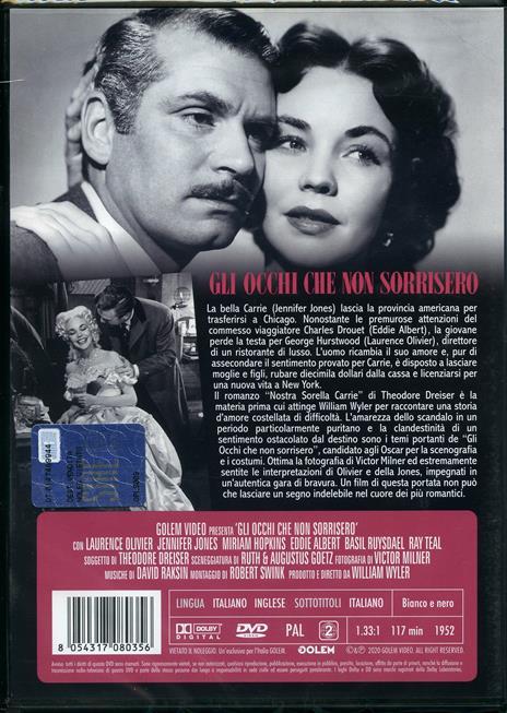 Gli occhi che non sorrisero (DVD) di William Wyler - DVD - 2