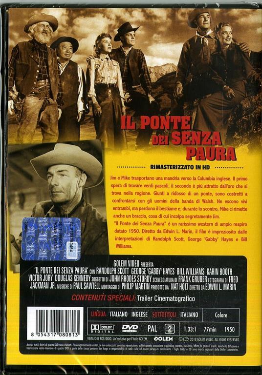 Il ponte dei senza paura. Rimasterizzato in HD (DVD) di Edwin L. Marin - DVD - 2