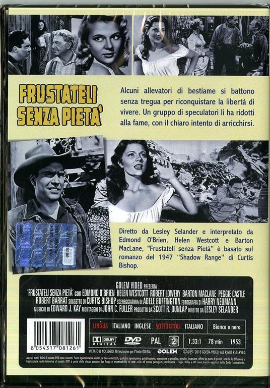Frustateli senza pietà di Lesley Selander - DVD - 2