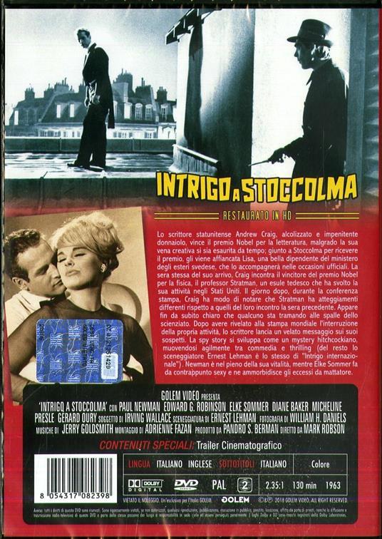 Intrigo a Stoccolma. Restaurato in H (DVD) di Mark Robson - DVD - 2