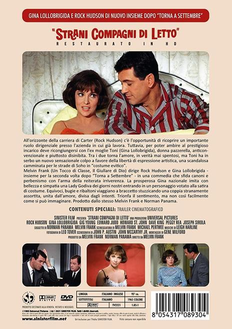 Strani compagni di letto. Restaurato in HD (DVD) di Melvin Frank - DVD - 2