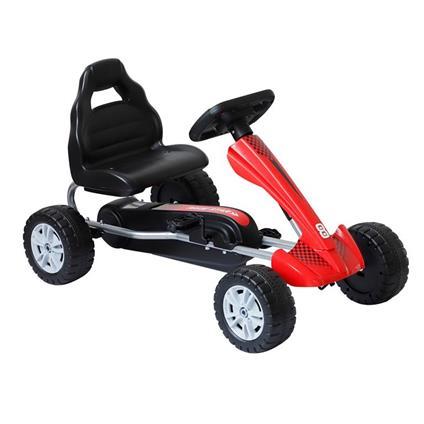 Go Kart A Pedali Per Bambini 3-8 Anni, Rosso