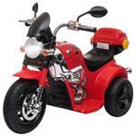 Homcom Moto Elettrica per Bambini 3-6 Anni con Luci Suoni e 3 Ruote Stabili Rossa
