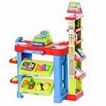 HOMCOM Gioco Supermarket per Bambini Luci e Suoni Cassa Giocattolo e Accessori