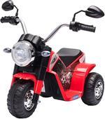 HOMCOM Moto Elettrica per Bambini 18-36 mesi a 3 Ruote Batteria Ricaricabile - Rosso