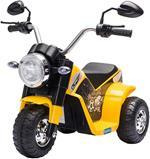 HOMCOM Moto Elettrica per Bambini 18-36 mesi a 3 Ruote Batteria Ricaricabile - Giallo