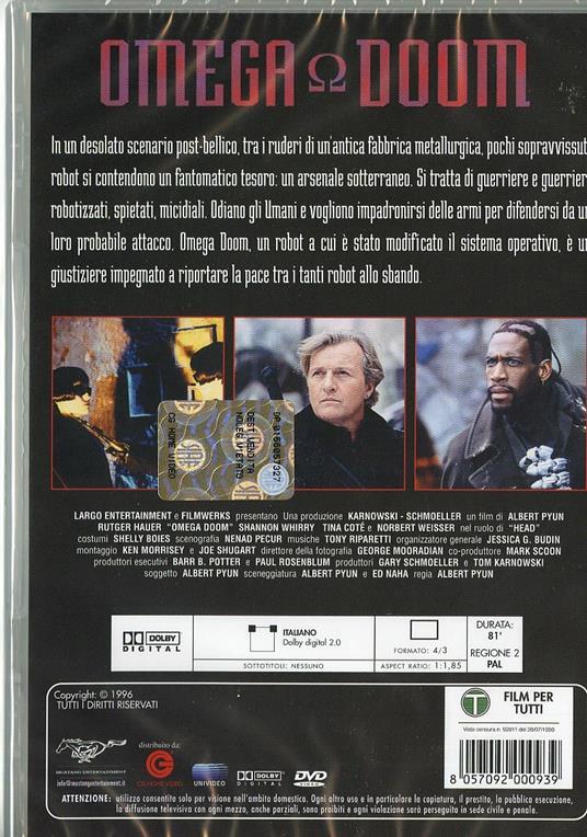 Omega Doom di Albert Pyun - DVD - 2