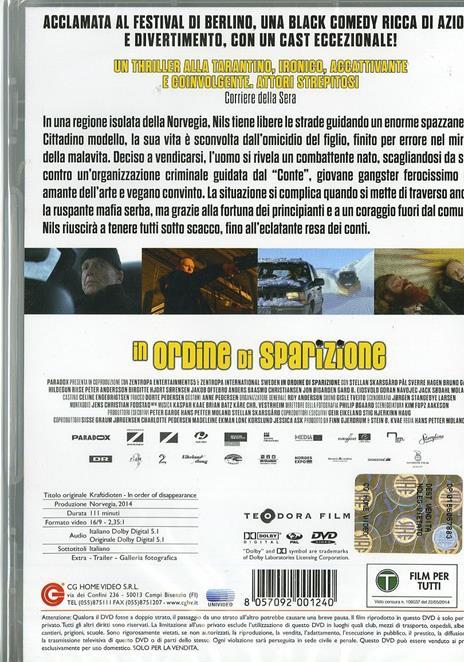 In ordine di sparizione di Hans Petter Moland - DVD - 2