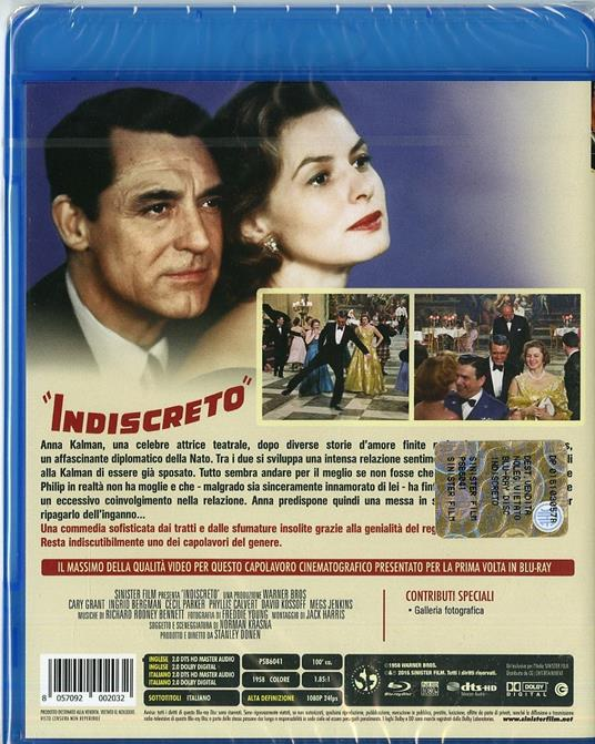 Indiscreto di Stanley Donen - Blu-ray - 2