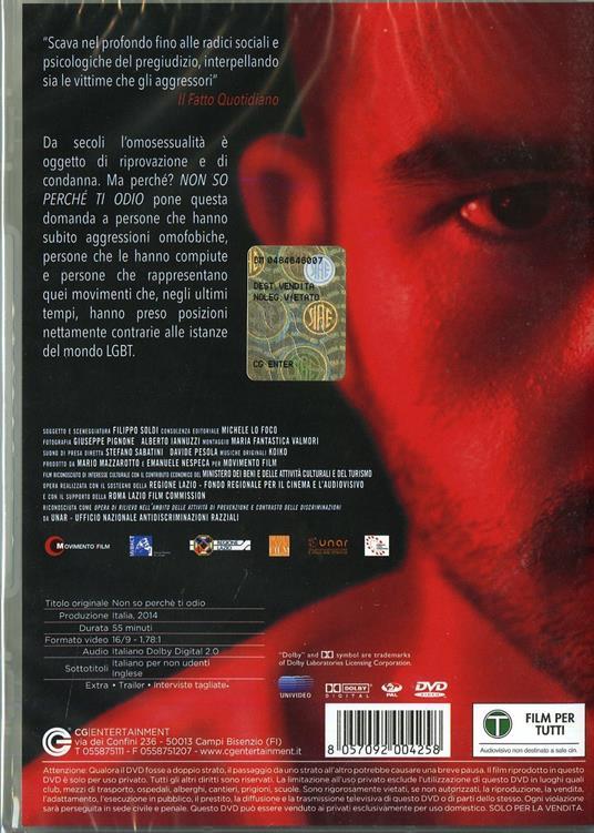 Non so perché ti odio di Filippo Soldi - DVD - 2