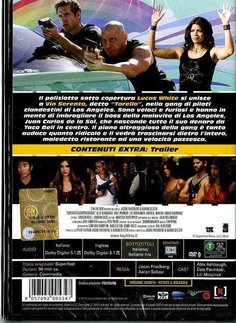 Superfast & Superfurious di Jason Friedberg,Aaron Seltzer - DVD - 2